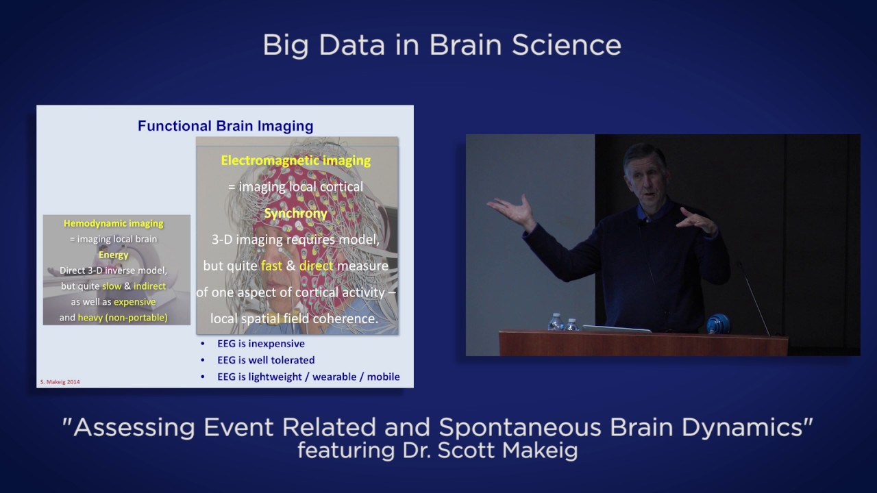 "Video: Big Data in Brain Science — ""Assessing Event Related and Spontaneous Brain Dynamics"" by Dr. Scott Makeig"